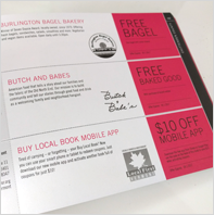 Page of Buy Local Book coupons