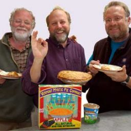 Vermont Mystic Pie Company and Ben and Jerry's owners Dave, Ben and Jerry