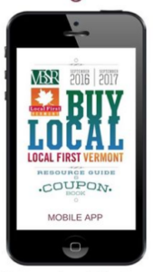 Mobile phone showing Buy Local logo