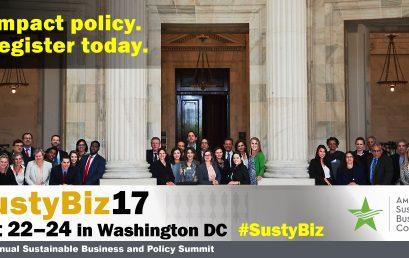 SustyBiz 17: Advancing Sustainability in the Trump Era