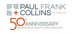paul frank and collins 50 years logo