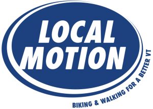 local motion's logo, blue circle with name in white in center