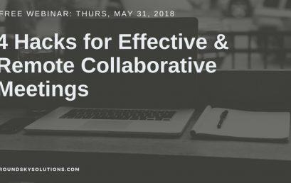 [Free Webinar] 4 Hacks for Effective & Remote Collaborative Meetings