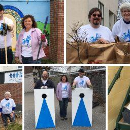 NPI Technologies staff volunteering in community gardens