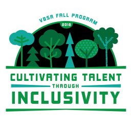 cultivating talent through inclusivity, 6 different trees illustrated on a black background