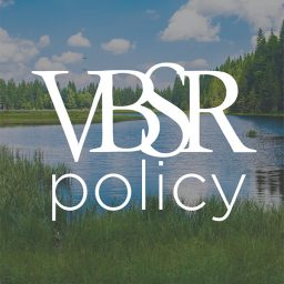 VBSR Policy, lake and mountain in background
