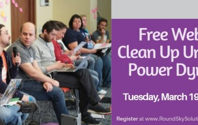 "Free Webinar: Spring ""Cleaning"" up Unhealthy Power Dynamics in our Teams"