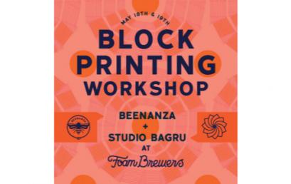 Block printing Workshop @ Foam Brewers