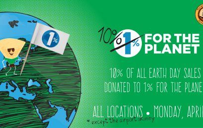 The Skinny Pancake to Pledge 10% of Earth Day Sales to Burlington Non-Profit 1% For the Planet