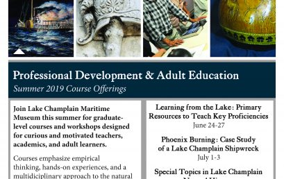 Professional Development courses at Lake Champlain Maritime Museum.
