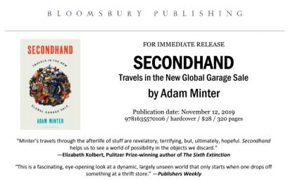 NYT Best Selling Author / TED Talker ADAM MINTER kicks off latest book tour at University of Vermont November 14