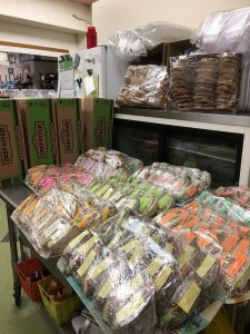 Picture from Pinky's on State, of 100 sandwiches, chips and cookies ready to go to Barre Gardens last week.
