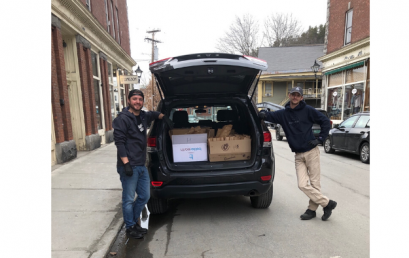 Two VBSR Members Working Together to Deliver Meals to the Homeless during Stay Safe, Stay Home