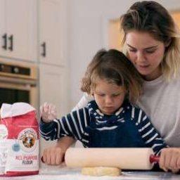 King Arthur Flour adult baking with child