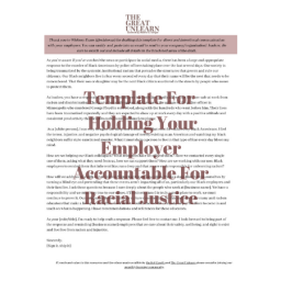template for holding employer accountable