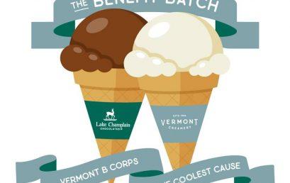 Ice Cream that Gives Back!  Lake Champlain Chocolates & Vermont Creamery create Benefit Batch 2020