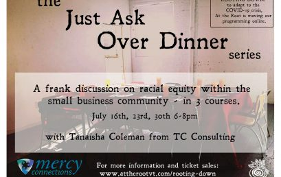 "Over Dinner Series: ""Just Ask – A frank discussion on racial equity within the small business community"""