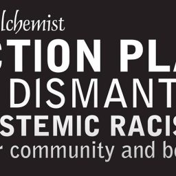 alchemist text image action plan dismantle systemic racism in our community and beyond