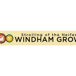 strolling of the heifers windham grows banner logo