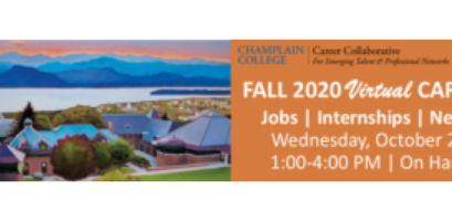 Champlain College Fall 2020 Virtual Career Fair