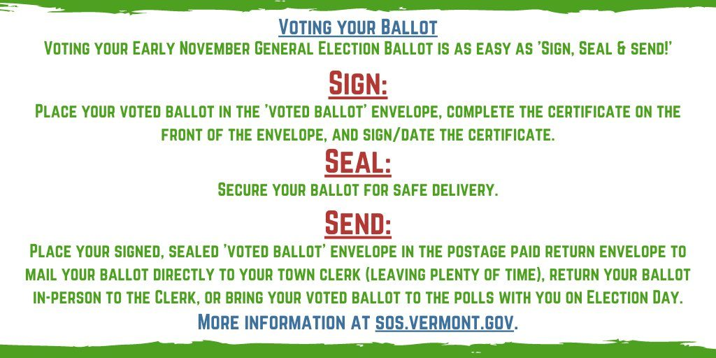 Instruction on early voting