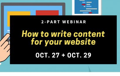 Anatomy of a Website – How to Write Content for Your Website – 2 Part Webinar – Free Event
