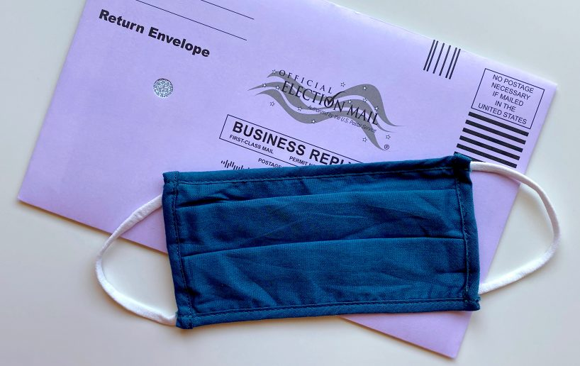 Mask and mail in ballot