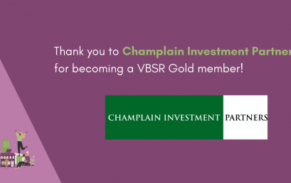 Champlain Investment Partners becomes a VBSR Gold member