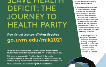 UVM's 2021 Rev. Dr. Martin Luther King, Jr. Virtual Keynote Lecture  Featuring Dr. Leon McDougle