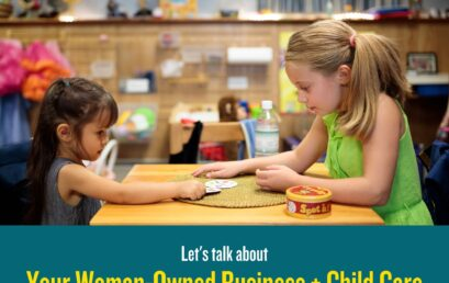 Let's Grow Kids Women-Owned Businesses + Child Care event