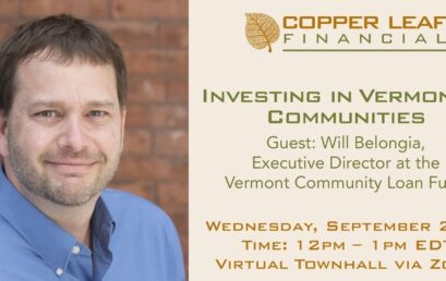 Virtual Townhall: Investing in Vermont's Communities