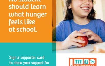Sign onto the Organizational Support Letter to Show Support for Universal School Meals