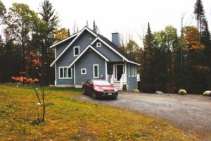 Vermont cottage and car
