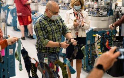 Darn Tough Cuts the Ribbon on a New Knitting Facility, and Jobs, in Waterbury, Vermont